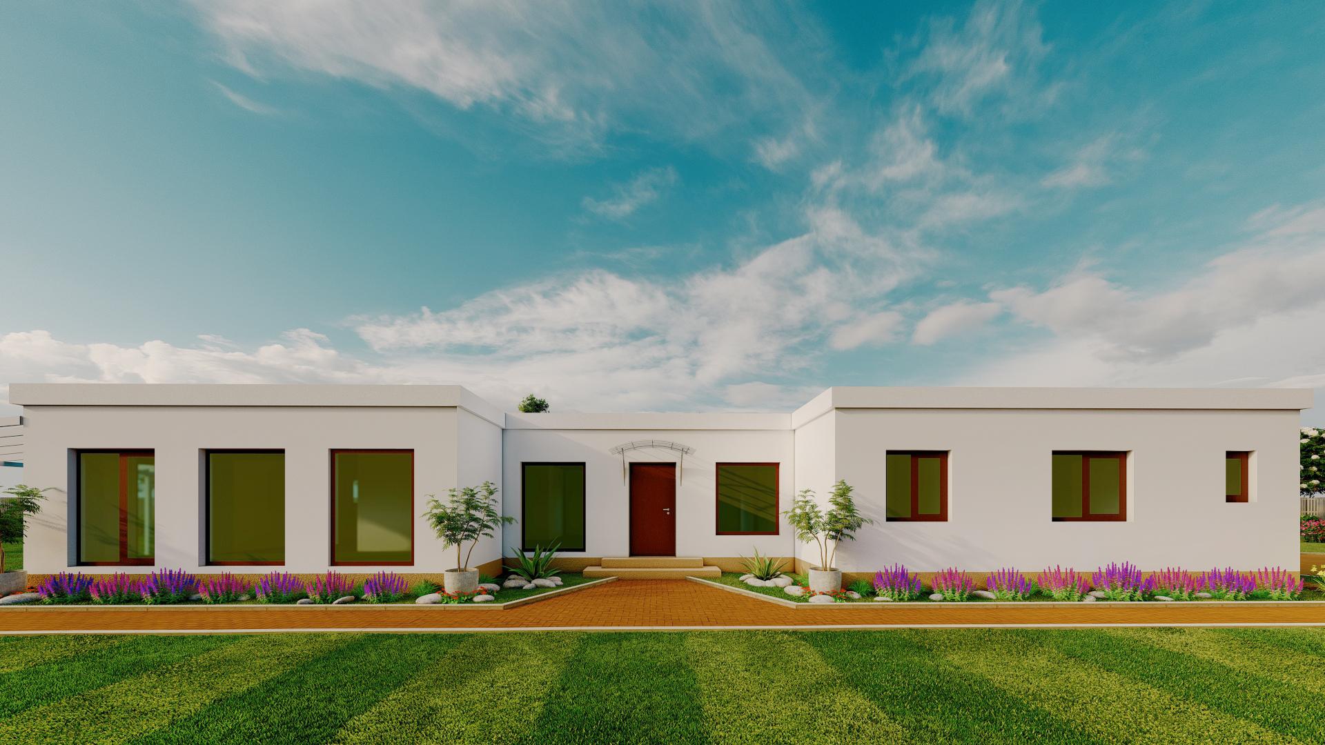 Casa din lemn stil mediteranian
