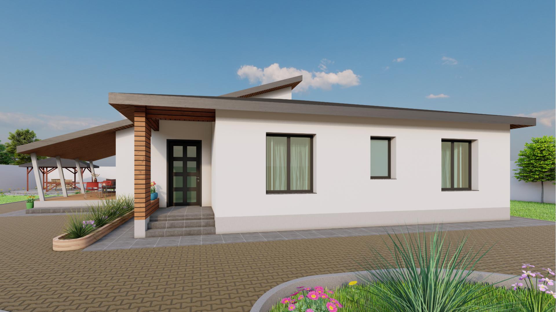 Casa din lemn stil modern